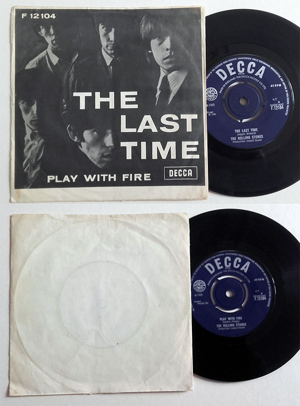 """The Rolling Stones - The Last Time - Decca F.12104 Denmark 7"""" PS"""