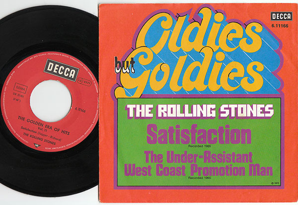"""The Rolling Stones - Satisfaction - Decca 6.11166 Germany 7"""" PS"""