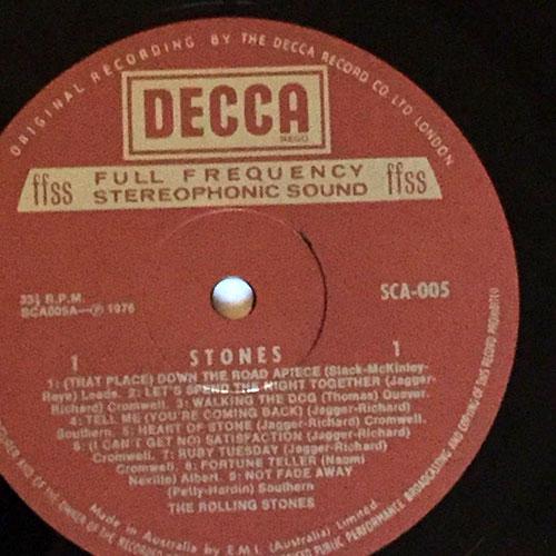 The Rolling Stones - Stones - Decca SCA 005  Australia LP