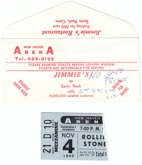 The Rolling Stones - 1965 Program + ticket stub -   USA program