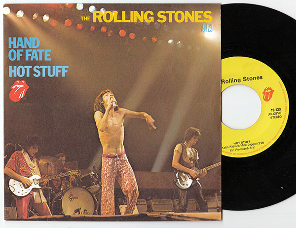"""The Rolling Stones - Hot Stuff - RSR RS 19123 France 7"""" PS"""