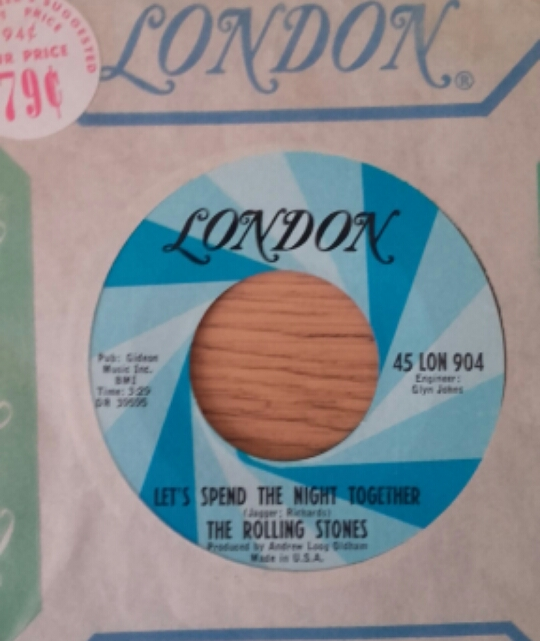 "The Rolling Stones - Let's Spend The Night Together - London 45 LON 904 USA 7"" CS"
