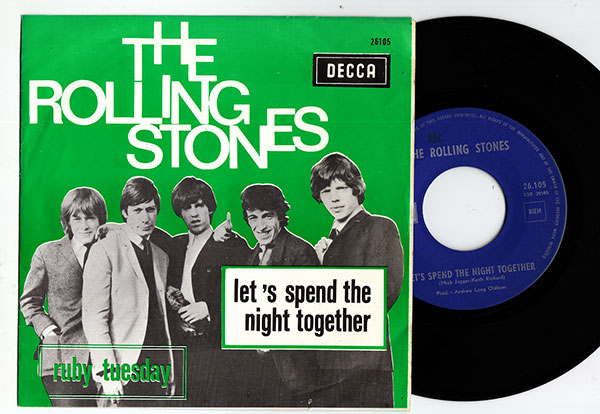 """The Rolling Stones - Let's Spend The Night Together - Decca 26.105 Belgium 7"""" PS"""