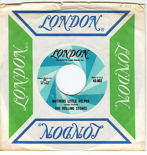 """The Rolling Stones - Mother's Little Helper - London 45-902 USA 7"""" PS"""