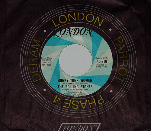 "The Rolling Stones - Honky Tonk Women - London 45-910 USA 7"" CS"