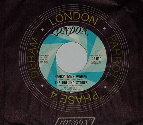 "The Rolling Stones - Honky Tonk Women - London 45-910 USA 7"" CS"