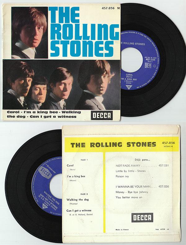"The Rolling Stones - Carol  - Decca 457.036 France 7"" EP"