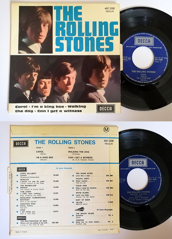 "The Rolling Stones - Carol  - Decca 457.036 France 7"" EP"