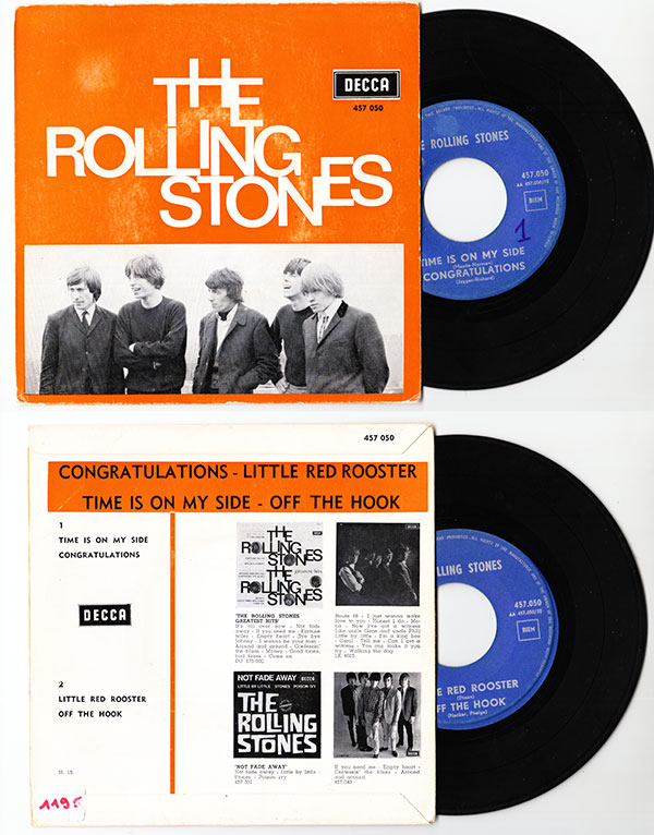 """The Rolling Stones - Time Is On My Side  - Decca 457.050 Belgium 7"""" EP"""