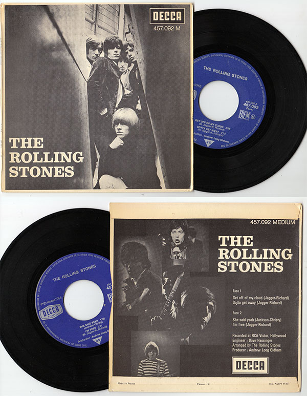 """The Rolling Stones - Get Off Of My Cloud  - Decca 457.092 France 7"""" EP"""