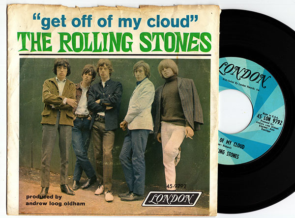 """The Rolling Stones - Get Off Of My Cloud - London 45 LON 9792 USA 7"""" PS"""