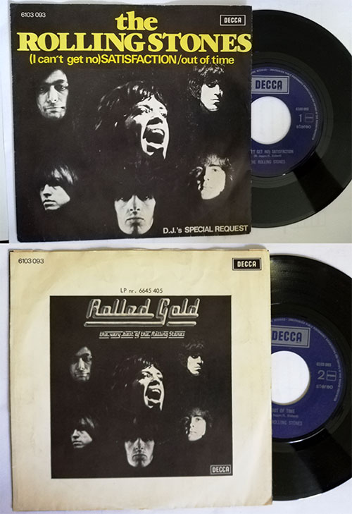 "The Rolling Stones - Satisfaction - Decca 6 103 093 Holland 7"" PS"
