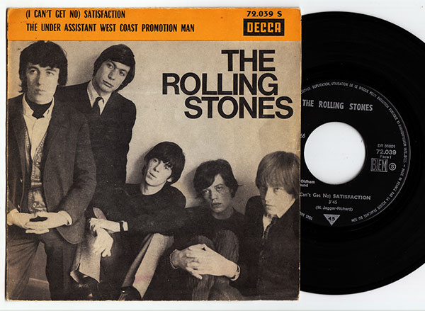 """The Rolling Stones - Satisfaction - Decca 72.039 France 7"""" PS"""