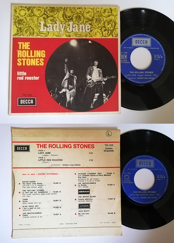 "The Rolling Stones - Lady Jane - Decca GHP 79103 France 7"" PS"