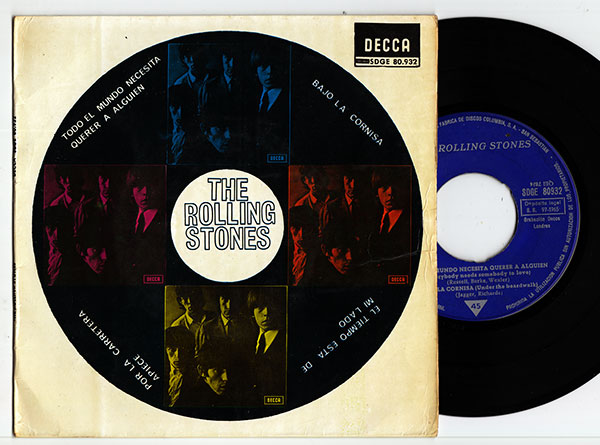 """The Rolling Stones - Everybody Needs Somebody To Love  - Decca SDGE 80.932 Spain 7"""" EP"""