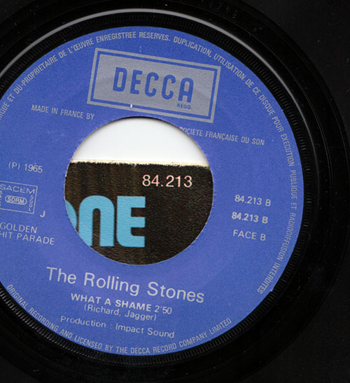 """The Rolling Stones - Heart Of Stone - Decca GHP 84213 France 7"""" PS"""
