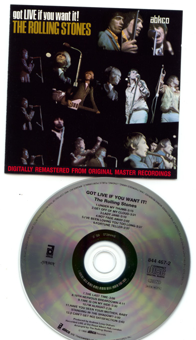 The Rolling Stones - Got Live If You Want It! - Abkco 844 467-2 Europe CD