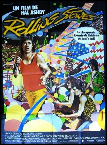 The Rolling Stones - French official poster for the 'Let's Spend The Night Together' movie 1983 - Gaumont  France poster