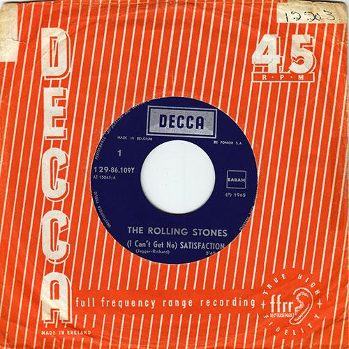 "The Rolling Stones - L'Âge d'Or des Rolling Stones - Decca 86109 Belgium 7"" PS"