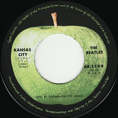 "The Beatles - Kansas City - Apple AR-1194 Japan 7"" PS"