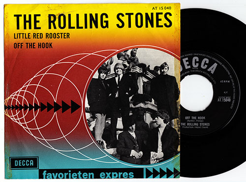 """The Rolling Stones - Little Red Rooster - Decca AT.15040 Holland 7"""" PS"""