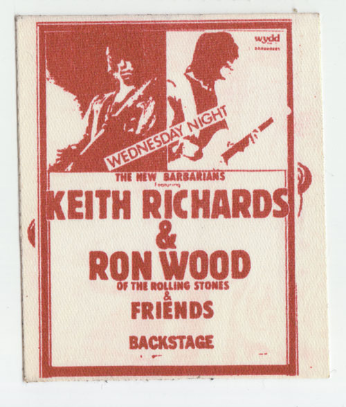 Rolling Stones / The New Barbarians (Keith Richards, Ron Wood) - Concert backstage pass -   USA pass