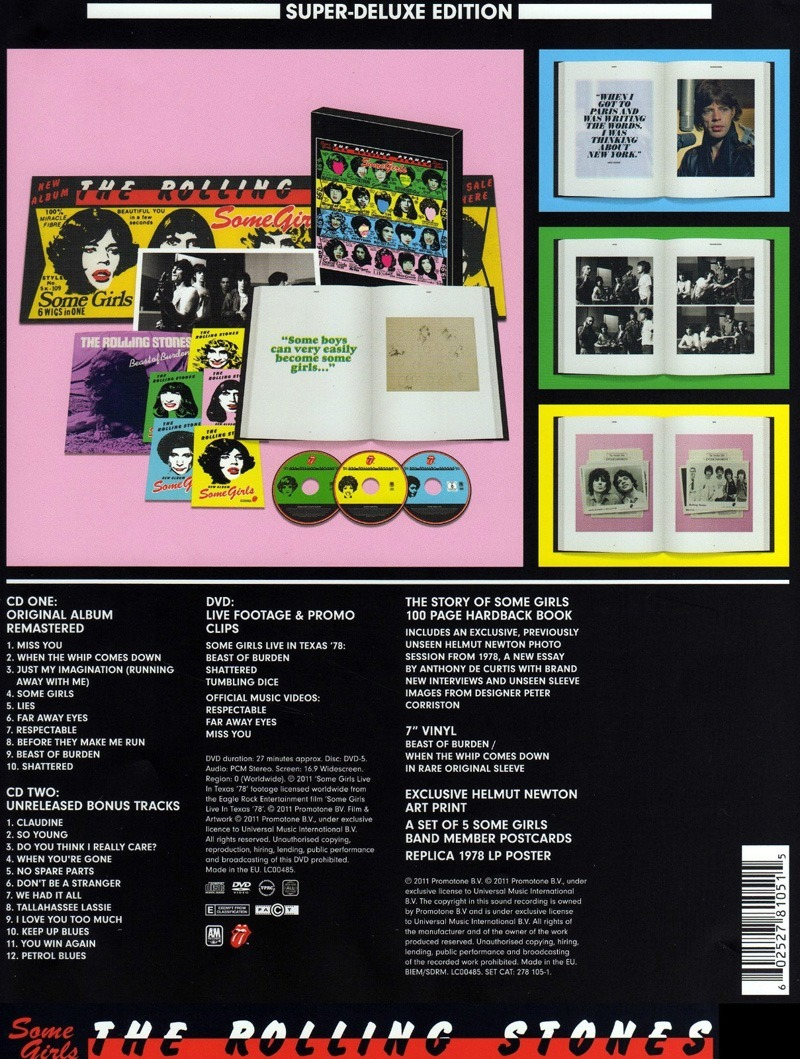 "The Rolling Stones - Some Girls Deluxe Box set - Universal 278 155-9 Europe 7"" PS"