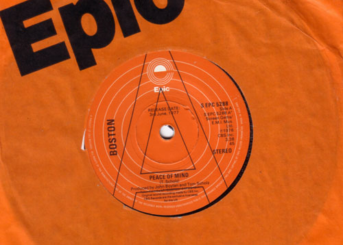 """Boston - Peace of Mind - EPIC EPC 5288 UK 7"""""""