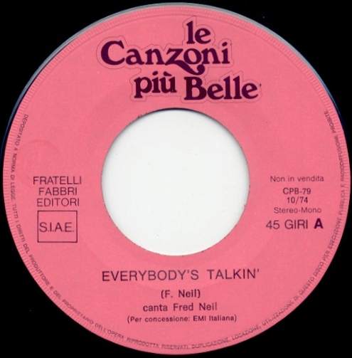 """The  Rolling Stones (related) - Le Canzoni Piu Belle - FFE 79 Italy 7"""" PS"""