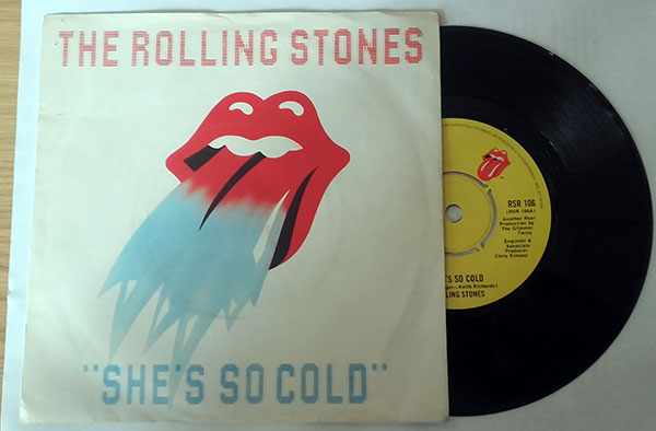 "The Rolling Stones - She's So Cold - EMI RSR 106 UK 7"" PS"