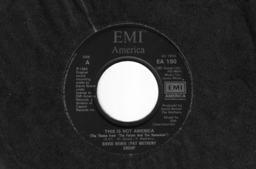 David Bowie - This Is Not America - EMI EA 190 UK 7""