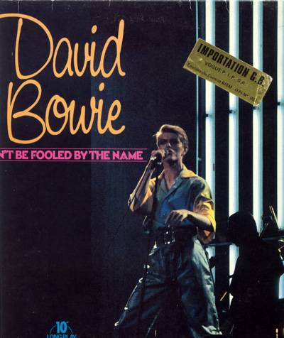"""David Bowie - Don't Be Fooled by the Name - BRT DOW1  UK 10"""" PS"""