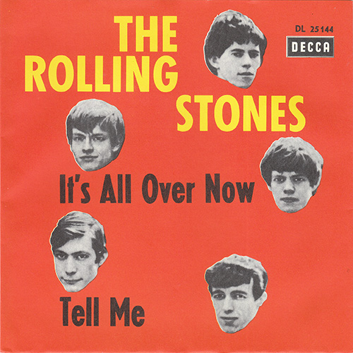 "The Rolling Stones - It's All Over Now - Decca DL 25144 Germany 7"" PS"