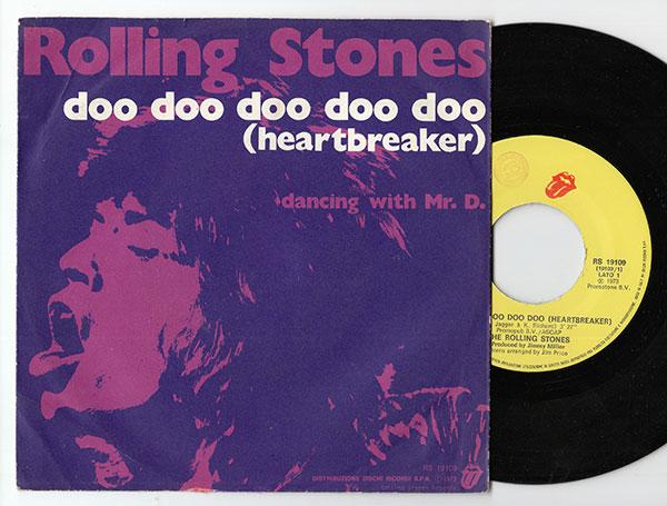 """The Rolling Stones - Doo Doo Doo Doo Doo (Heartbreaker) - RSR RS 19109 Italy 7"""" PS"""