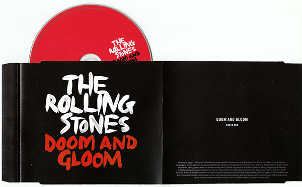 The Rolling Stones - Doom And Gloom - Universal D&G1 UK CDS