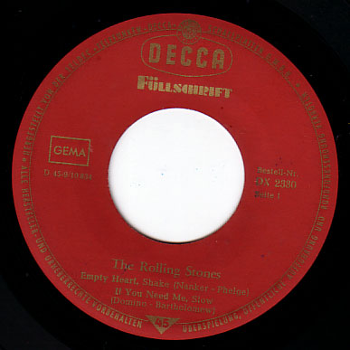 "The Rolling Stones - Five By Five - Decca DX 2330 Germany 7"" EP"