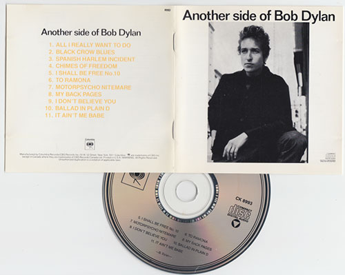 Bob Dylan - Another Side of Bob Dylan - CBS CK 8993 USA CD