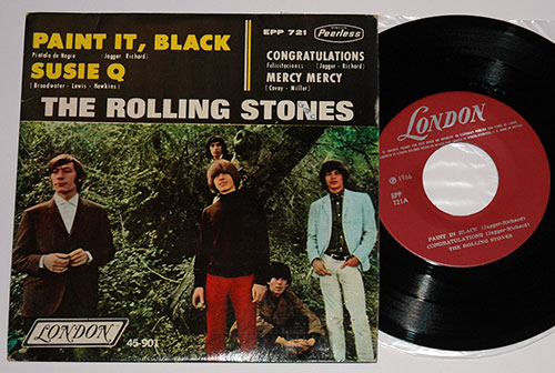 "The Rolling Stones - Paint It, Black / Congratulations - London EPP 721 Mexico 7"" EP"