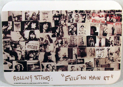 The Rolling Stones - Exile On Main Street promo sticker -   UK sticker