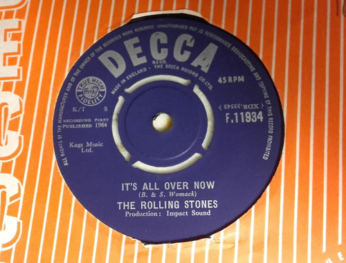 "The Rolling Stones - It's All Over Now - Decca F.11934 UK 7"" CS"