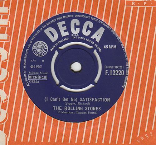 """The Rolling Stones - Satisfaction - Decca F.12220 UK 7"""" CS"""