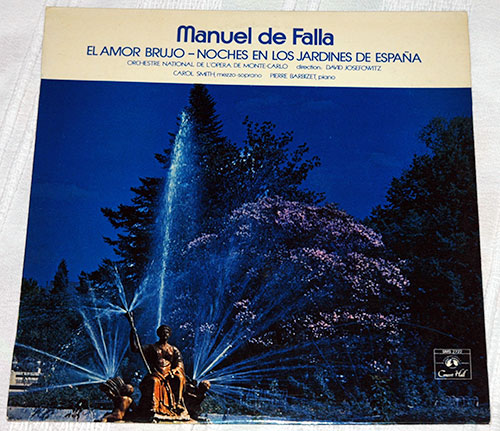 Manuel De Falla - El Amor Brujo - Noches En Los Jardines de Espana - Concert Hall SMS 2722 France LP