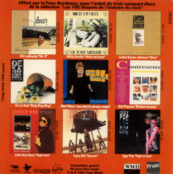 V/A sampler, incl. Willy De Ville, Iggy Pop, Bill LaBounty & more - Les 100 disques de l'histoire du rock - Fnac JM 009 France CD