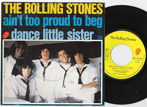 """The Rolling Stones - Ain't Too Proud To Beg - RSR RS 19116 France 7"""" PS"""