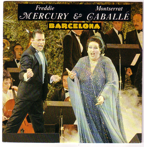 "Freddie Mercury (from Queen) + Monserrat Caballe - Barcelona - Polydor 887075-7 France 7"" PS"