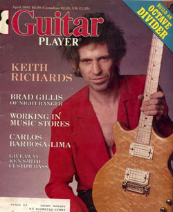 The Rolling Stones - Guitar Player - April 1983 -   USA mag