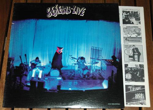 Genesis - Live - Charisma CAS 1666 USA LP