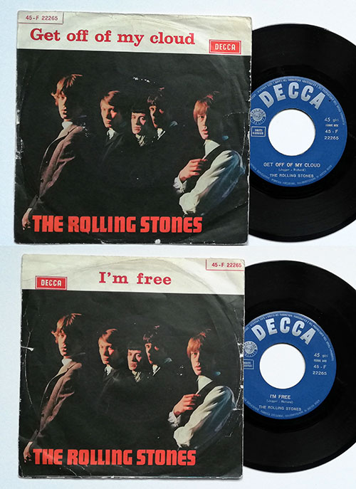 "The Rolling Stones - Get Off Of My Cloud - Decca F 22265 Italy 7"" PS"