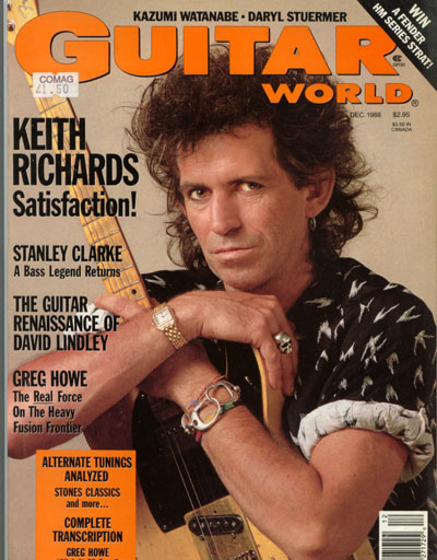 The Rolling Stones - Guitar World 12/88 -   USA mag