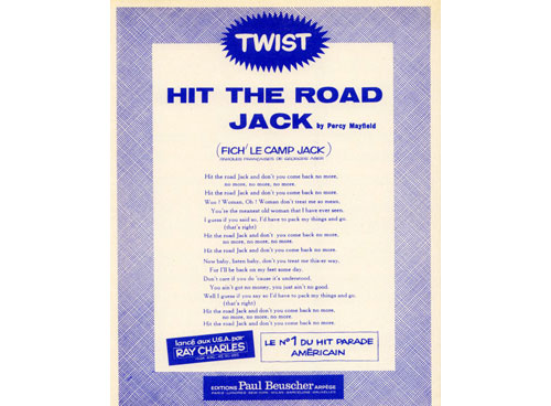 MAYFIELD, PERCY - Hit The Road Joack - - Sheet